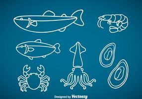Meeresfrüchte Outline Vektor
