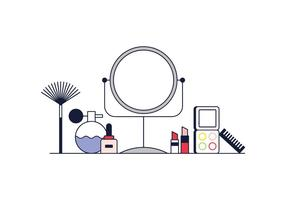 Vector libre del maquillaje