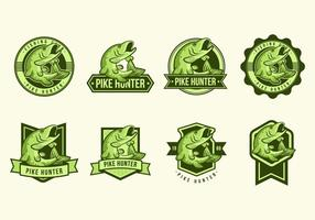 Free Pike Fish Badges Vectoren