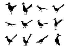 Gratis Roadrunner Bird Silhoutte Vector Pack