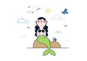 Mermaid Vector gratuito