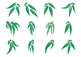 Gratis Eucalyptus Blad Logo Vector