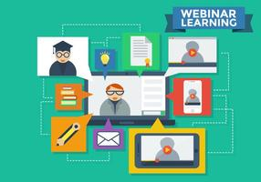 Webinaire Learning Infographic Vector