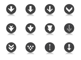 Degrade Arrow Button Vector Pack