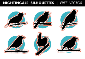 Nightingale Silhuetter Gratis Vector