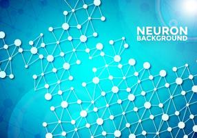 Neuron Achtergrond Vector Sjabloon