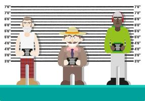 Mugshot Personajes de fondo Police Vector