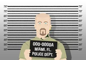 Mugshot de fondo de caracteres Police Vector