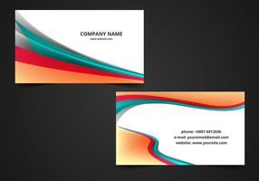 Gratis Vector Wave Visiting Card Background