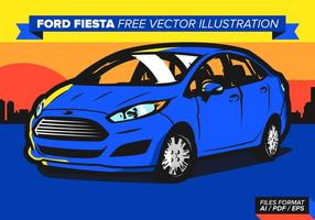 Ford Fiesta Kostenlose Vektor-Illustration