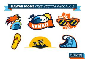 Hawaii Icons Free Vector Pack Vol. 2