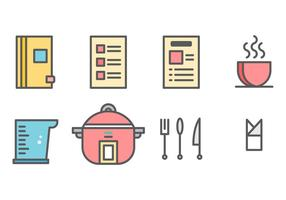 Libre de recetas de tarjetas de gráficos vectoriales 3