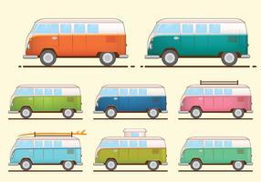 VW Camper Van Vectores