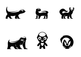 Gratis Honey Badger Logo Vector