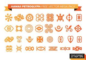 Hawaii Petroglyph Gratis Vector Mega Pack