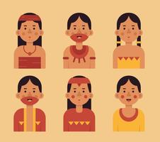 Vector Gente Inca