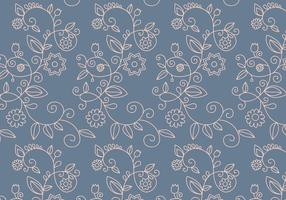 Floral Outline Pattern vector