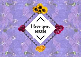 Gratuit Je t'aime Mom Flowers Vector