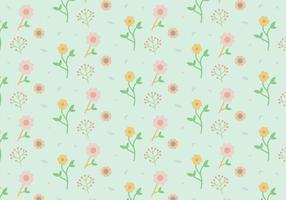 Flowers Pastel Pattern vector