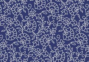 Outline Floral Pattern vector