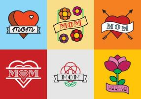 Gratis Mom Tattoos Vector