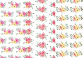 Vector Bloemen Blad Patroon Set