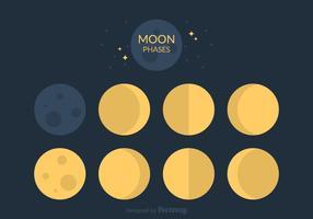 Vecteur gratuit des phases de la lune