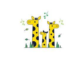 Vector libre de jirafa
