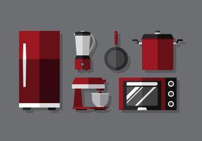 Conjunto de cocina de vector