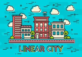 Free Teal Flat Linear Design Vector Image Concept