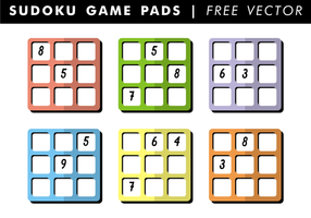 Sudoku Game Pads Gratis Vector