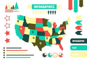 Gratis Vector US Infographics