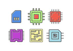 Freie Mikrochip-Vektorelemente