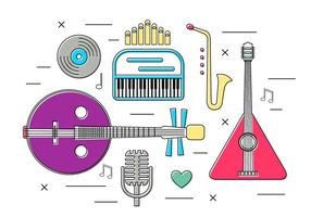 Instruments de musique vectoriels gratuits