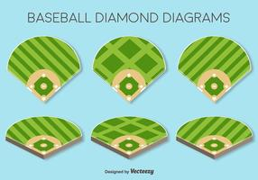 Vector Set Van Baseball Fields Elements
