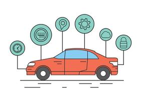 Éléments vectoriels libres de voiture