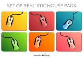 Ensemble vectoriel de souris réaliste sur un élément de tapis de souris Éléments