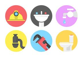 Iconos del vector de la plomería