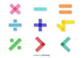 Vector Colorful Math Symbols Set