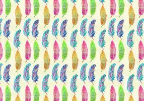 Vector Watercolor Bohemian Feather Pattern