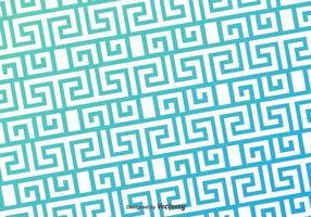 Greek Key Blue Pattern Vector Background