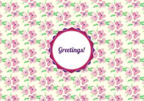 Motif floral d'aquarelle vectoriel gratuit