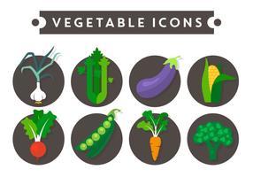 Icone di vettore di verdure