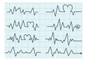 Vetor monitor de coração