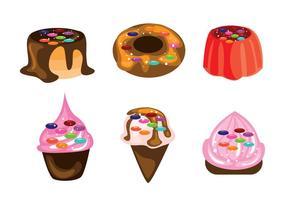 Vecteurs de dessert