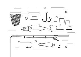 Free Fishing Elements vector