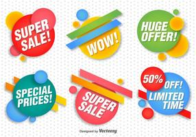 Promotionele Vector Banners Set