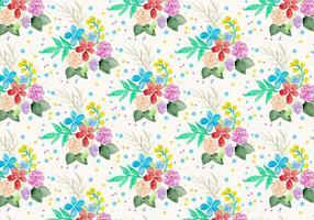 Gratis vektor vattenfärg blom bakgrund