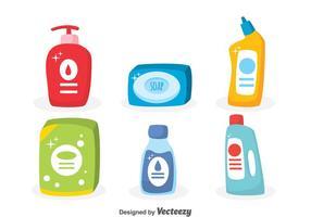 Insieme di vettore di sapone e detersivo