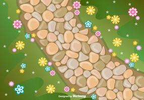 Vector Stone Path Vector Illustration
